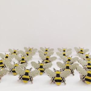 Enamel bee badges