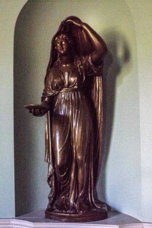 Statue in Heaton Hall entrance