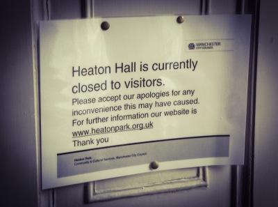 Heaton Hall sign
